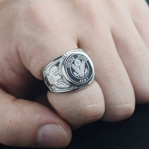 United States Air Force Marine Corps Army Stainless Steel Ring