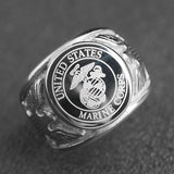 United States Marine Corps Army Stainless Steel Ring