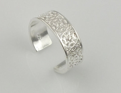 5pcs/lot Firefighter silver Ring Open Cuff hollow toe cuff rings size can adjustable