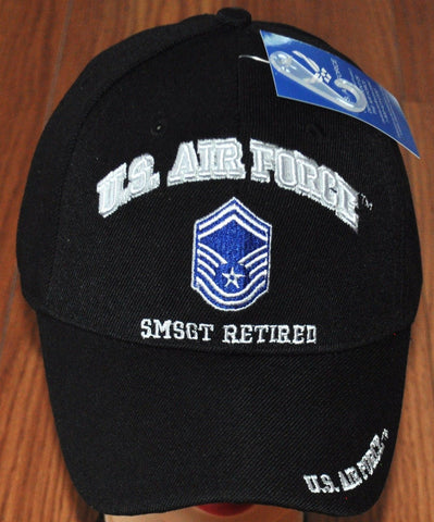 Licensed US Air Force SMSGT Retired Cap 391-BLK