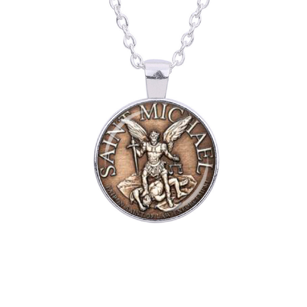 st michael christian archangel talisman michaels india silver seal buy medal sterling jewellery online in protection amazon dp low prices at pendant necklace