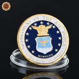 24K Gold Plated Coin Collectible Bitcoin Challenge Coin Art Collection Gift