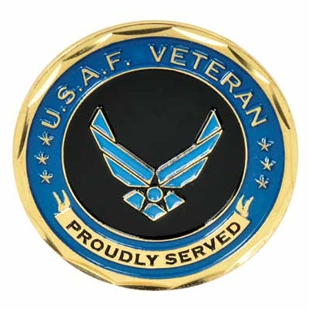 USAF Proudly Served Metal Commemorative Coin New Year Gifts
