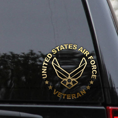 2PCS/LOT - Air Force Veteran/Retired Car Truck Window Laptop Decal Sticker 6""