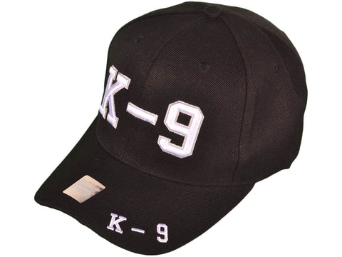 3D EMBROIDERED US K-9 BASEBALL CAPS HATS (BLACK)