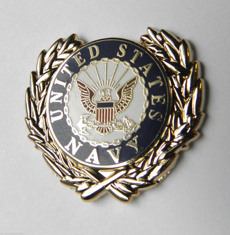 U.S. NAVY LOGO WITH WREATH LAPEL PIN