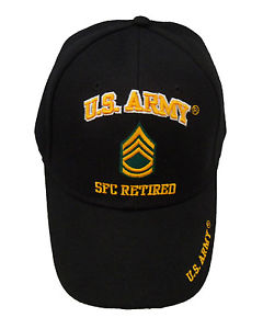 Licensed US Army Sergeant First Class SFC Retired Cap 382-BLK