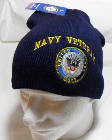 U.S. Navy Veteran Officially Licensed Beanie Toboggan Winter HAT Cap