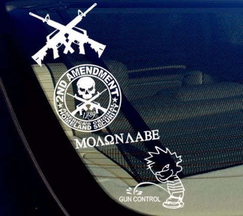 VA 2nd Amendment Lot/Pack of 4 Stickers/Decal