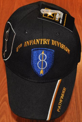 New Eighth 8th Infantry Division US Army Hat Ball Cap Pathfinder Gold Arrow