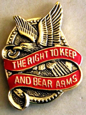2nd Amendment - Right to Keep and Bear Arms Pin ( Hat,lapel,shir