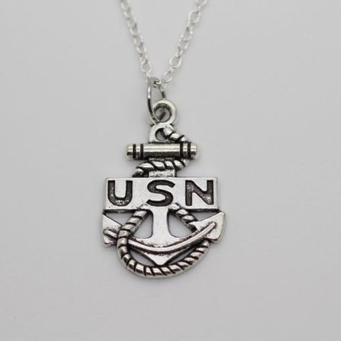 U.S. Navy Anchor Charm Necklace