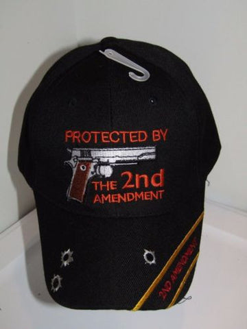 Black Protected By The 2nd Amendment Baseball Cap Hat