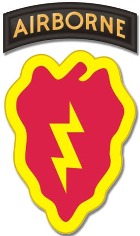 "25th Infantry Airborne Patch 3.8"" Sticker /  Decal"