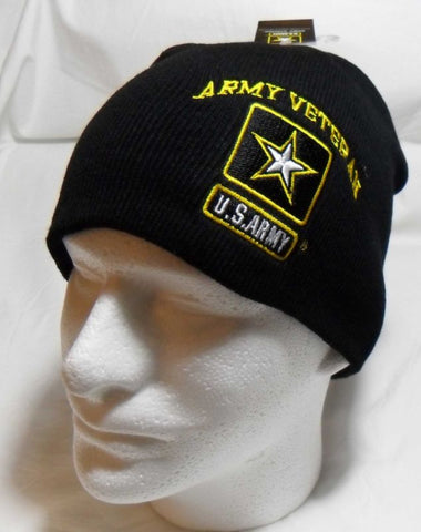 US ARMY VETERAN Watch Cap Beanie Winter Ski Hat Toboggan Officially Licensed