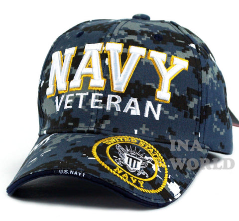 U.S. NAVY hat NAVY VETERAN Military Official Licensed Baseball cap- Navy Camo