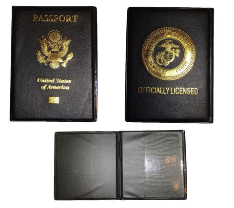 USMC United States Marine Corps EGA Vinyl Passport Holder