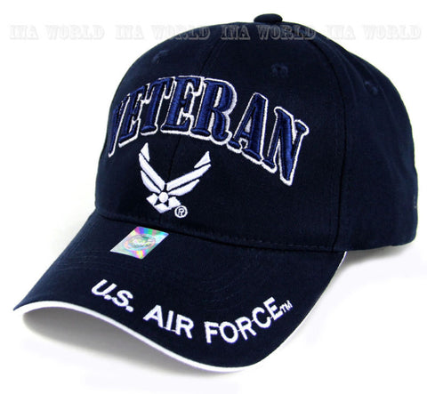 U.S. AIR FORCE hat USAF VETERAN Military Licensed Baseball cap- Blue/White