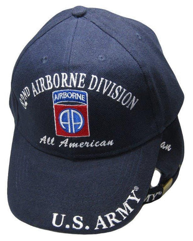 2018 Army Airborne All American 82nd Division Navy Blue Embroidered Cap Hat