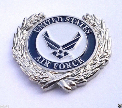 United States Air Force Symbol With Wreath Military Veteran Hat Pin
