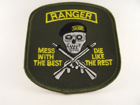 US Army  Ranger Iron on Patch Brand New, Mess with the Best Die like the Rest