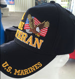 U.S MARINE VETERAN CAP W EAGLE AND FLAG