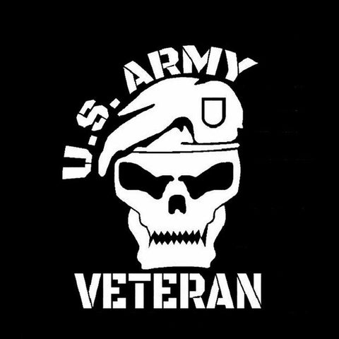 11.6CM*15.2CM Army Veteran Vinyl Decal
