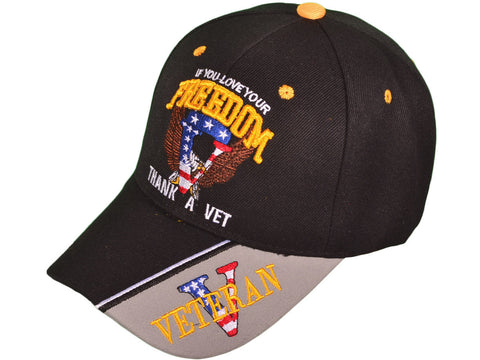 Bk Caps Us Military If You Love Your Freedom Thank A Veteran - Us-military-vet