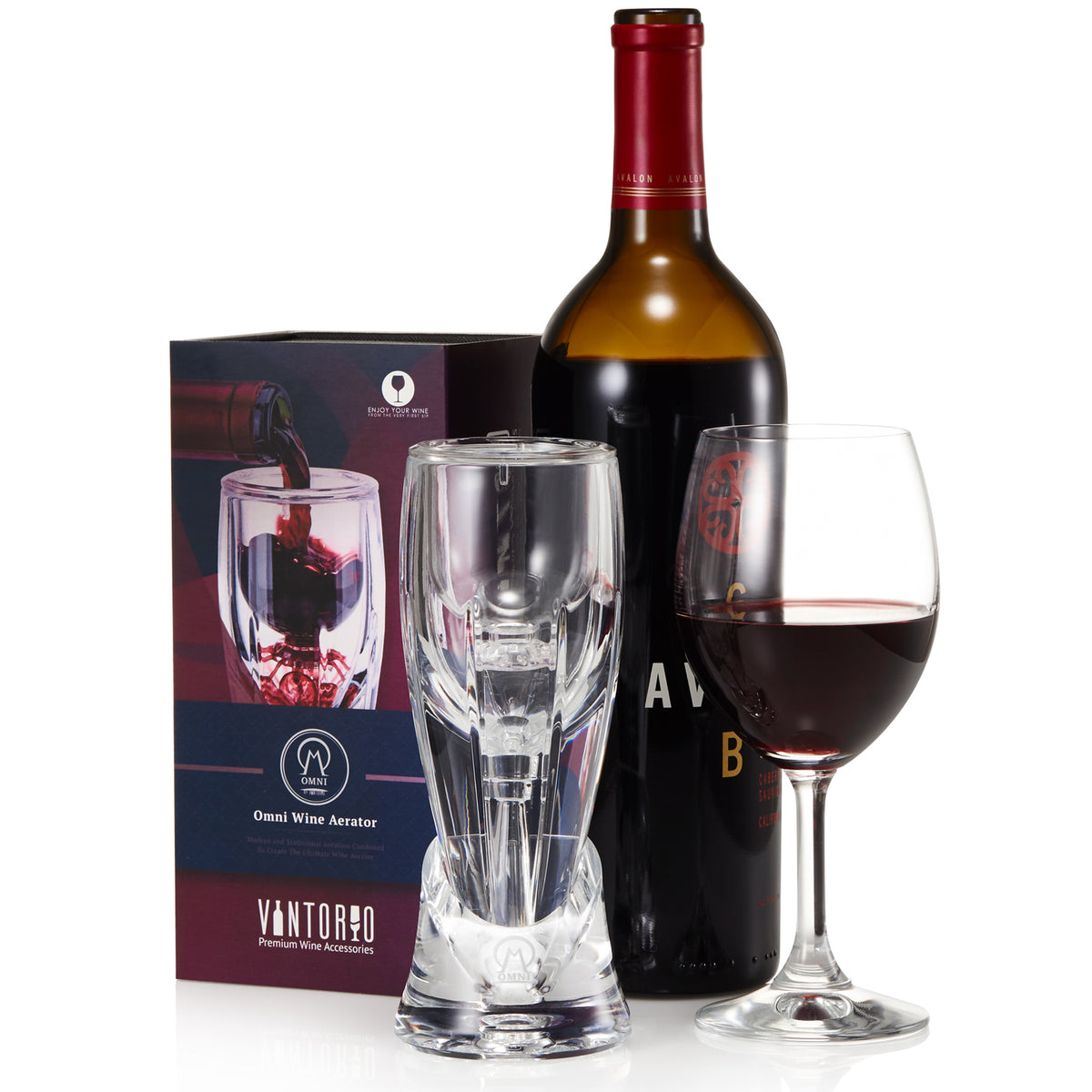 Vintorio Wine Aerator - Wine Gift for Her or Wine Gift for Him