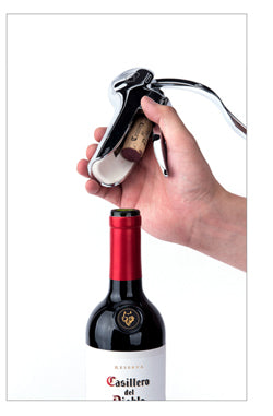 How to use screw-pull wine opener