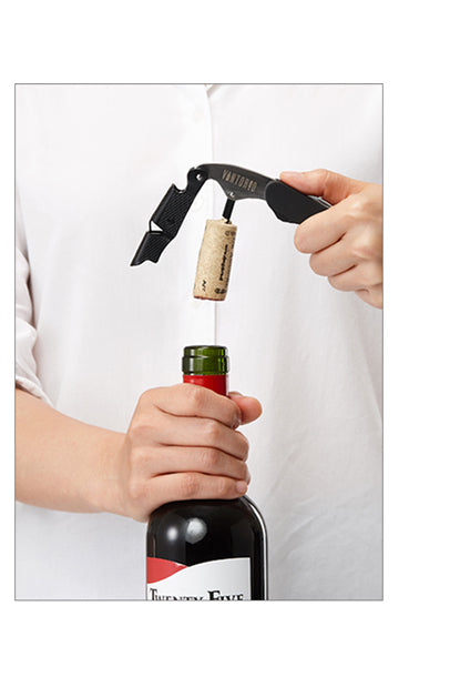 how to use a wine corkscrew or wine key - step four