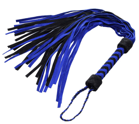Black and Blue Suede Flogger - Bedroommadness - 2