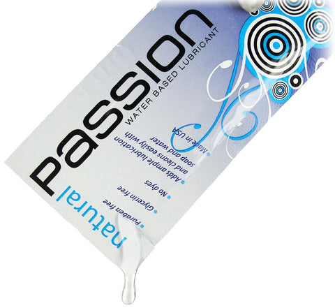 Passion Natural Water-Based Lubricant - 0.25 oz Single Use Pouch - Bedroommadness - 2