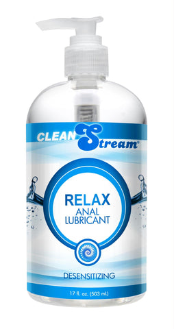 Clean Stream Relax Desensitizing Anal Lube 17 oz - Bedroommadness - 2