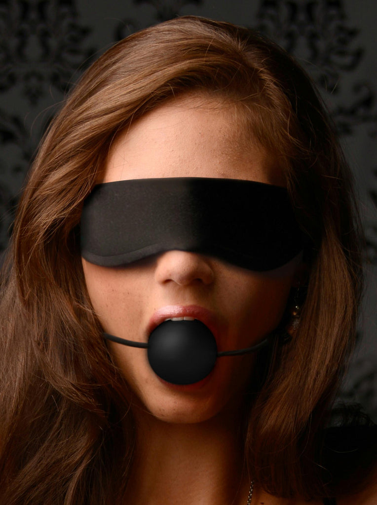 Lightweight Fleece Blindfold with Ball Gag - Bedroommadness - 2