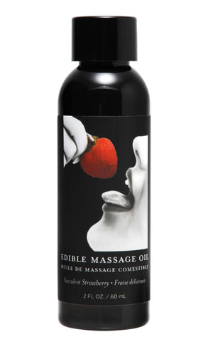 2 Ounce Edible Massage Oil- Strawberry - Bedroommadness - 2