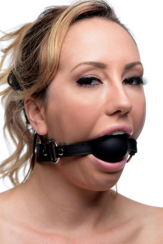 XL 2 Inch Silicone Ball Gag - Bedroommadness - 2