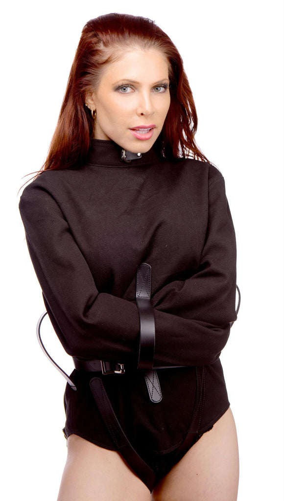 Strict Leather Black Canvas Straitjacket- Large - Bedroommadness - 2