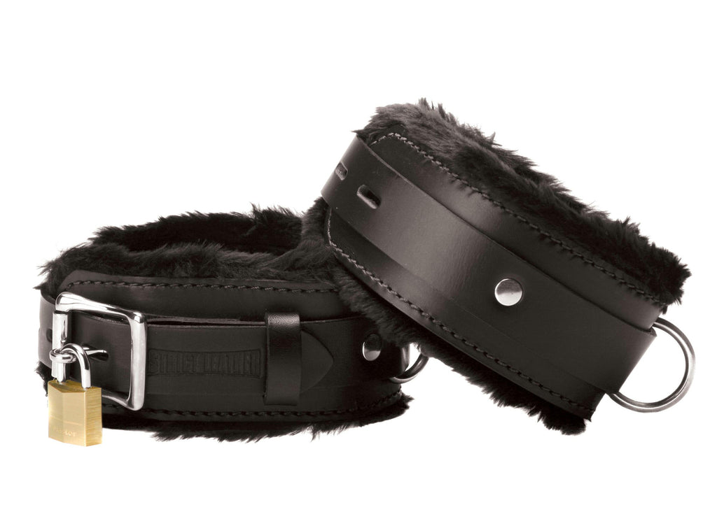 Strict Leather Premium Fur Lined Wrist Cuffs - Bedroommadness - 2