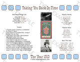 1910 Year In History Personalized Birthday Print