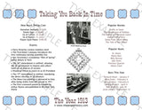1913 Year In History Personalized Birthday Print