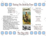 1916 Year In History Personalized Birthday Print
