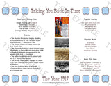 1917 Year In History Personalized Birthday Print