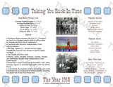 1918 Year In History Personalized Birthday Print