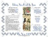 1921 Year In History Personalized Party Favor Birthday Print