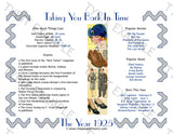 1925 Year In History Personalized Party Favor Birthday Print
