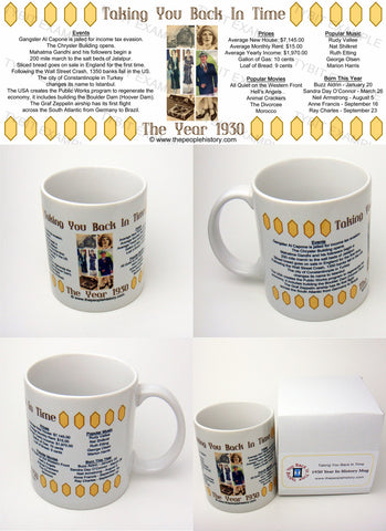 1930 Year In History Coffee Mug with Gift Box