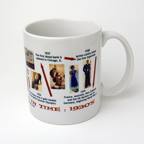 1930s Decade In History Coffee Mug