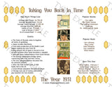 1931 Year In History Personalized Party Favor Birthday Print