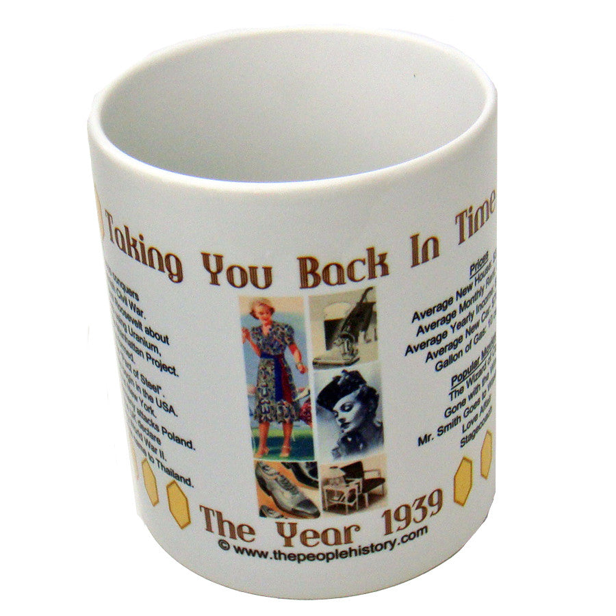 1939 Coffee Mug Includes Gift Box Backintimegifts